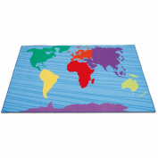 Erzi 300 x 200 x 1 cm German Wooden Toy Continents Carpet
