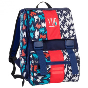 Doubling backpack - YUB - Blue Red - Expandable 28 litres school student