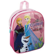 New Girls/Childrens Pink Frozen Design Backpack Ideal For School - Pink - UK SIZES 1-1