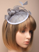 Allsorts® Large Silver Grey Aliceband Hat Fascinator Weddings Ladies Day Race Royal Ascot