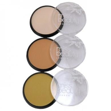 Miss Beauty Compact Pressed Powder - No17 Light Translucent
