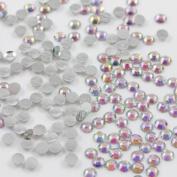 Beads4crafts 1000 X Glue On Ab Flat Back Rhinestone Bridal Ab Stones Craft Scrapbook, Size