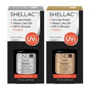 CND Shellac UV Top & Base Coat 7.3ml + Free Padded Nail File