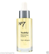 BOOTS No7 YOUTHFUL REPLENISHING FACIAL OIL moisturiser(3122) HYPO ALLERGENIC 30ml BNIB