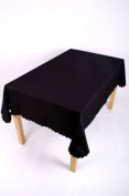 SHELL 36 INCH (91CM) SQUARE TABLECLOTH STAIN RESISTANT, NON-IRON, MACHINE WASHABLE AVAILABLE IN 14 COLOURS (BLACK
