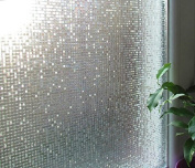 (0.9M X 2M)DuoFire. Decorative Stained Non-adhesive static cling Privacy Glass Window Film DL004