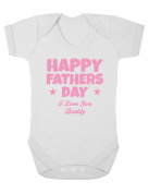 Purple Penguin Clothing Baby Grow - Happy Fathers Day Daddy