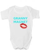 Granny Magnet Funny Boys Babygrow baby vest - Age 2 - 3