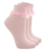 TICK TOCK COTTONIQUE Baby & Girls Socks Cute Frilly Ruffle Organza Lace School