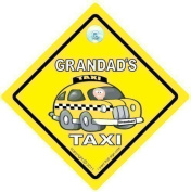 GRANDAD's TAXI Car Sign, Baby on Board Style Car Safety / Novelty Car Window Sign, Grandad Car Sign, Grandad's Car Sign