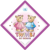 Twins On Board, Twins on Board Sign, Pink & Blue Bears, Twins On Board Car Sign, Twins on Board Sign, Baby on Board, Bumper Sticker, Decalm Baby Sign, Twin boy and Girl, Unisex Baby on Board