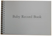 'No Frills' Unisex Baby Record Book or Journal - Records lots of milestones - for Boys and Girls - Every page Strong Card - Made to Last - Baby Shower, Naming Ceremony, New Baby or Christening Gift