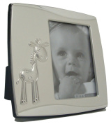 Baby Giraffe Photo Frame Silver Plated