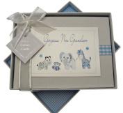 White Cotton Cards Handmade Gorgeous Grandson Photo Album