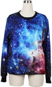 THENICE Women's Digital Print Pullovers Sweatershirts