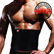 [DRSKIN] Premium Compressions Neoprene Waist Support protection with pressure Waist Trimmer Belt ,One Size, Black