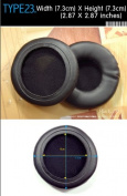 Earpads Replacement for headset, Compatible with Seneisher, AKG, Sony, etc. (Packaged 1 pair (2 pieces)) Type 23