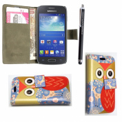 GSD STYLE YOUR MOBILE {TM} SAMSUNG GALAXY YOUNG 2 SM-G130 PU LEATHER CARD POCKET MAGNETIC FLIP CASE COVER +STYLUS