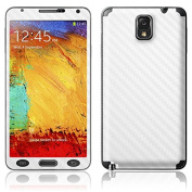 Carbon Fibre Style Vinyl Decal Kit Skin Sticker For Samsung Note 3 III N9000 N9005