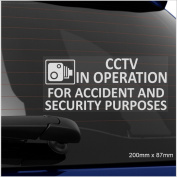 1 x CCTV In Operation for Accident and Security Purposes Window Sticker-200mm x 87mm-CCTV Sign-Van,Lorry,Truck,Taxi,Bus,Mini Cab,Minicab