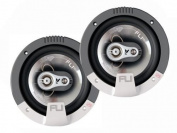 "FLI Audio Integrator 6 6.5"" inch 165mm 3-Way Triaxial 210 Watts Car Door Coaxial Speakers Set"