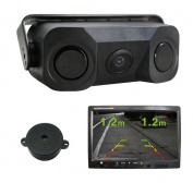 3 in 1 Video Rear Car Reverse Reversing Parking Sensor with High definition Wide Angel Night Vision IR Camera.