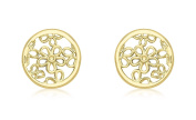 Carissima 9ct Yellow Gold Flower Stud Earrings