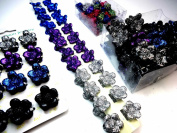 FreshFunkyFashion Joblot X100 Sparkling Glittery Mixed Carded Boxed Hair Clips Accessories