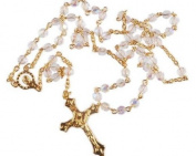 Crystal Rosary Beads. Traditional Roman Catholic rosary. Confirmation Gift