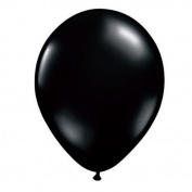 Pioneer Balloon Company 100 Count Latex Balloon, 28cm , Black