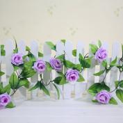 Artificial Fake Rose Silk Flower Green Leaf Vine for Home Wedding Garden Decoration