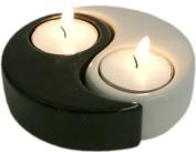 Yin yang tea light candle holder