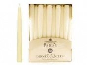 PRICE'S IVORY 50 DINNER CANDLES BURNING TIME 8 HOURS