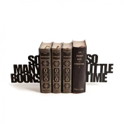 So Many Books So Little Time - Metal Bookends Pair