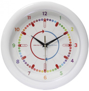 Easliy Learn to Tell The Time Children's Wall Clock, Silent Movement