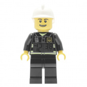 LEGO City Fireman Minifigure Clock