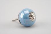 Blue Pearlescent Ceramic Door Knobs Furniture Drawer pulls