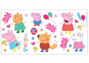 Fun4walls Peppa Pig Wall Stickers-Fully Repositionable
