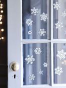 1 Sheet of Christmas Snowflake Window Sticker 20 Xmas Glitter Sticker for Decoration.