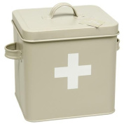 Vintage Retro Style First Aid Tin Box with Lid