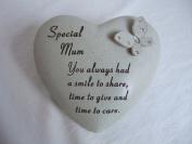 """Special Mum"" Love Heart & Butterfly Memorial / Grave Plaque"