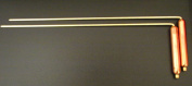 Dowsing L Rods; 11in/29cms long with 3in/7.5cm Copper Handles; Use for finding Water/Minerals/Oil/Geopathic Stress Lines/Lost Objects/Chakra & Aura Measurement; comes with instructions on how to hold - sold by Spiritual Gifts. Usually dispatched withii ..