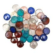 70 x Assorted Multi Colour Decorative Glass Pebble Stones Beads Vase Nuggets