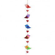Colourful Bird Stained Glass Sun Catcher Mobile - Beautiful Window Hanging - Home Decoration