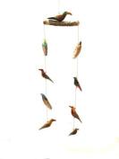 Katangi Handcrafts Hand Painted Wooden Bird Mobiles