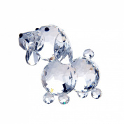 H & D 20mm Cut crystal dog animal figurine collection glass ornament new