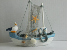 Wooden Fishing Boat Ornament