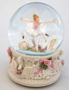 Large musical Snow globe - Swan Lake , ballerina with swans