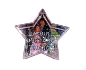 Add your own image star shaped photo snow globe.