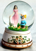 Musical Snow globe with Snow White dancing with a dwarf